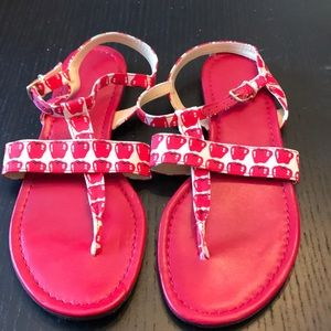 Jcrew apple print sandals